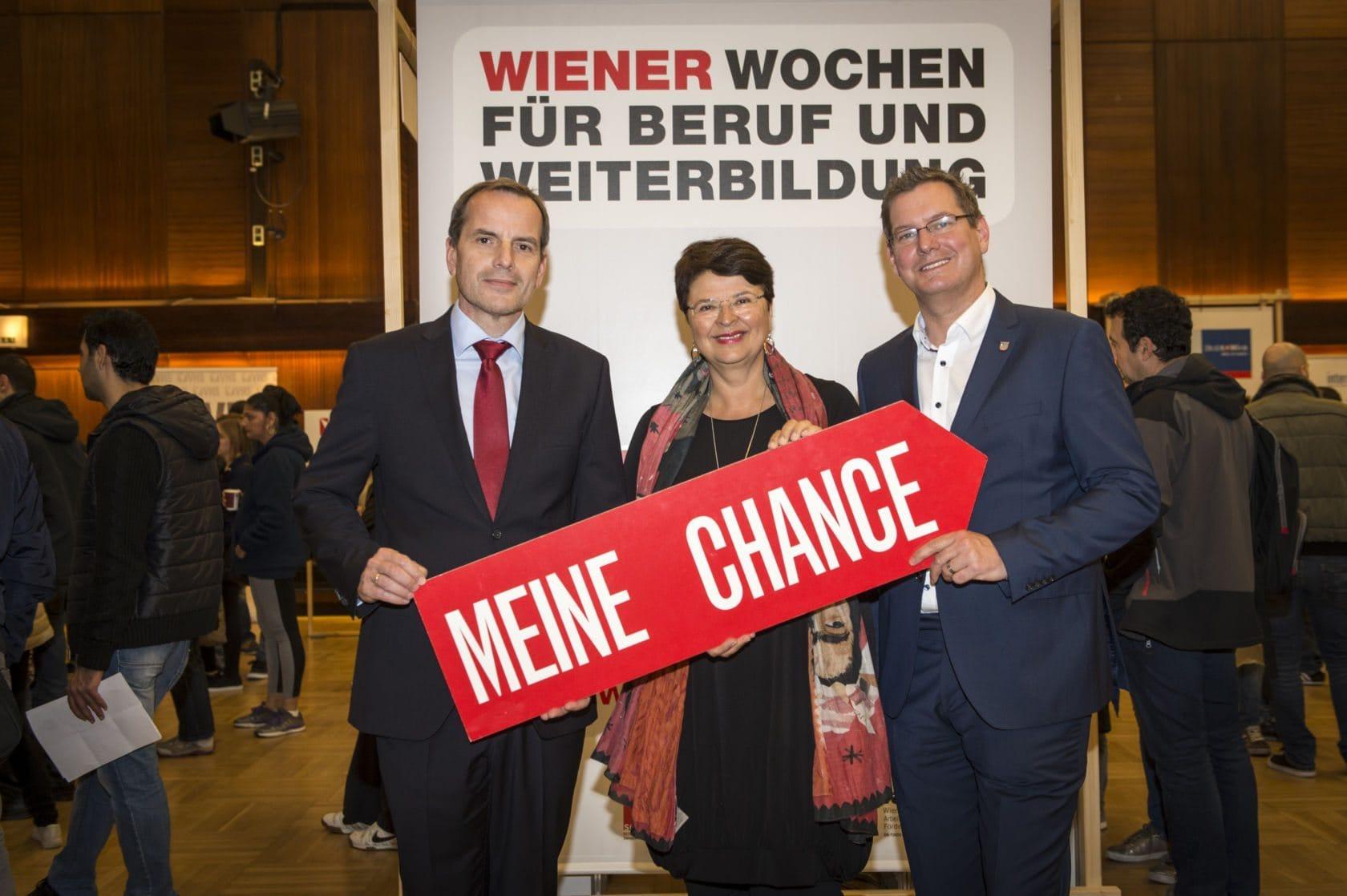 Brauner, Meidlinger und Papai eröffnen die Wiener Wochen für Beruf und Weiterbildung