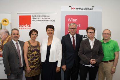 Pressekonferenz zum Start der Aktion 20.000 mit Renate Brauner und Alois Stöger