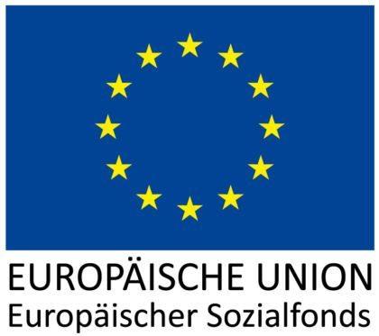 Europaflagge mit goldenen Sternen Europäischer Sozialfonds