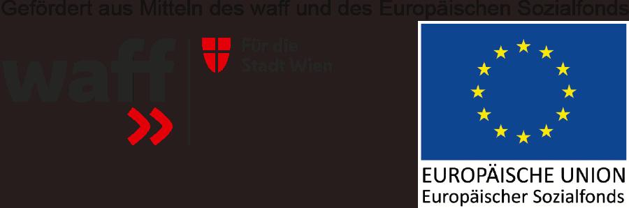 Logo waff - Gefördert aus den Mitteln des waff und des Europäischen Sozialfonds