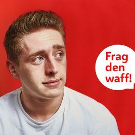 Dachkampagne Sujetbild - Frag den waff! - Junger Mann